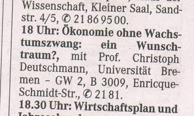 Quelle: Weser-Kurier